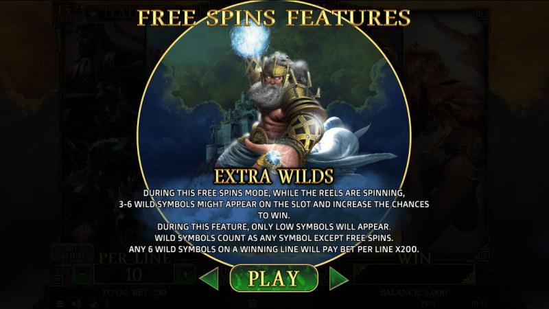 Demi Gods II 15 Lines :: Zeus Free Spins