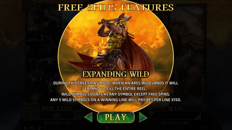 Demi Gods II 15 Lines :: Ares Free Spins