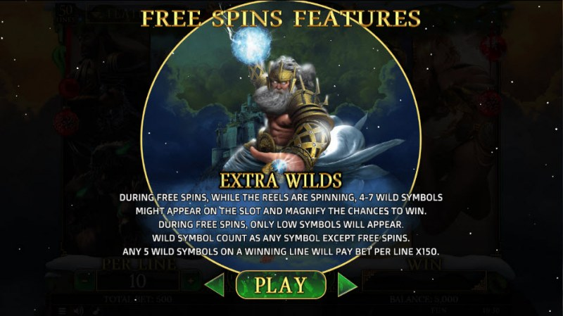 Demi Gods II Christmas Edition :: Extra Wild Free Spins