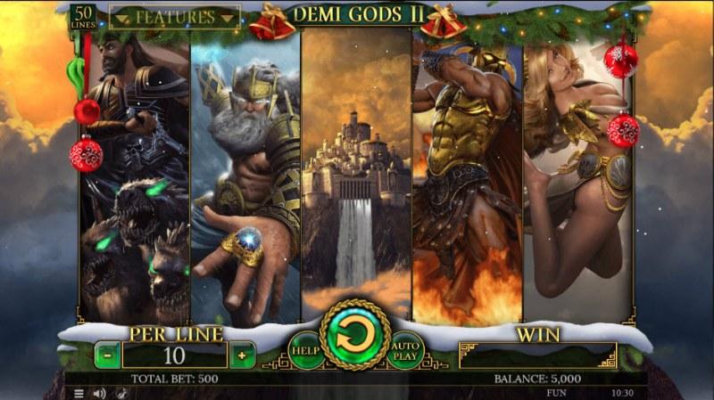Demi Gods II Christmas Edition :: Main Game Board