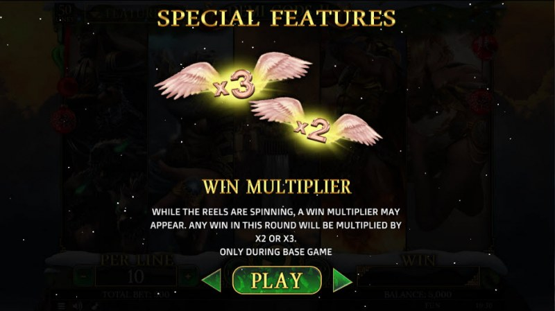 Demi Gods II Christmas Edition :: Win Multiplier