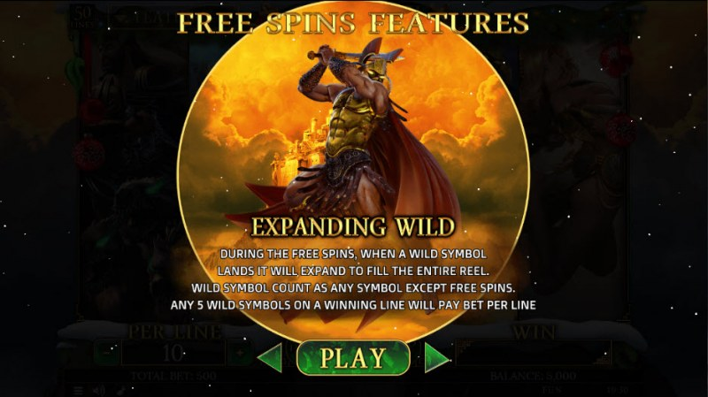Demi Gods II Christmas Edition :: Expanding Wild Free Spins