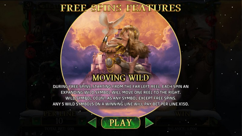 Demi Gods II Christmas Edition :: Moving Wild Free Spins