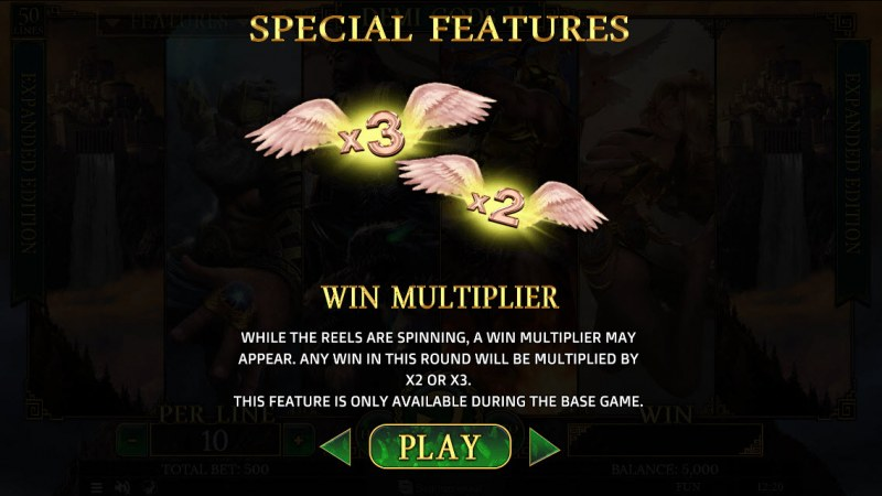 Demi Gods II Expanded Edition :: Win Multiplier