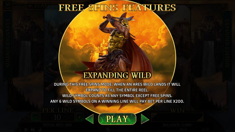 Demi Gods II Expanded Edition :: Ares Free Spins