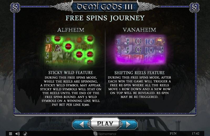 Demi Gods III :: Free Spins Rules