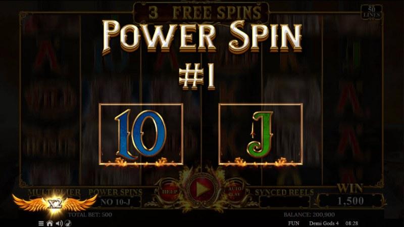 Demi Gods IV :: Power Spin awarded