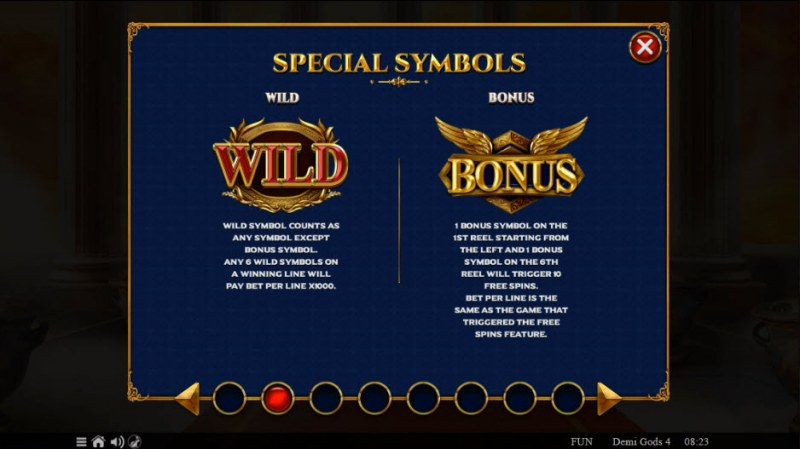 Demi Gods IV :: Wild and Scatter Rules