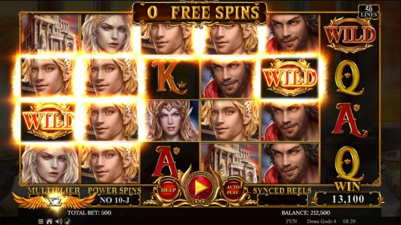 Demi Gods IV :: A five of a kind win