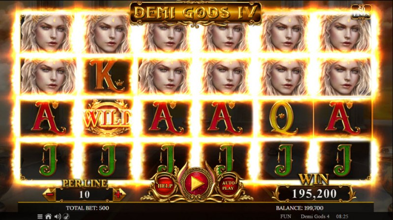 Demi Gods IV :: Multiple winning combinations leads to a big win