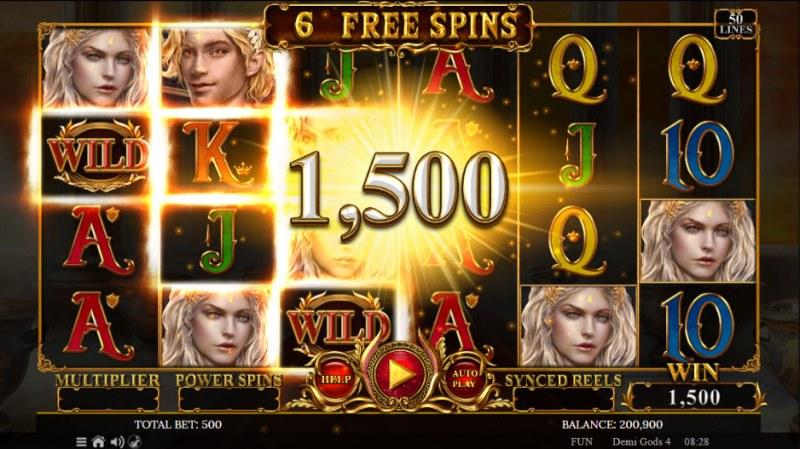 Demi Gods IV :: Free Spins Game Board