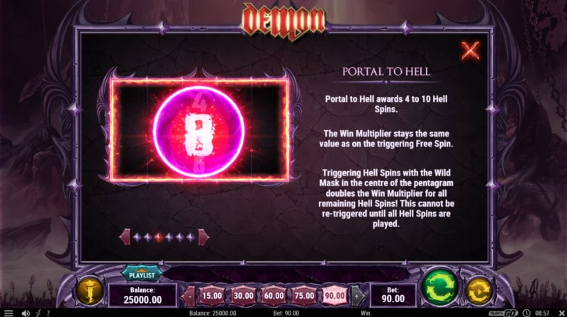 Play slots at TS: TS featuring the Video Slots Demon with a maximum payout of $450,000