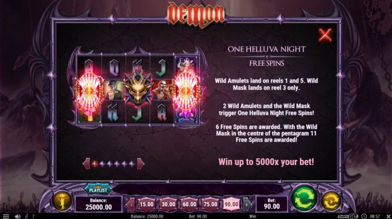 Demon :: Free Spins Rules