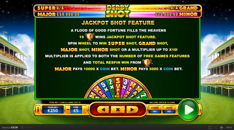 Derby Shot :: Jackpot Shot Feature