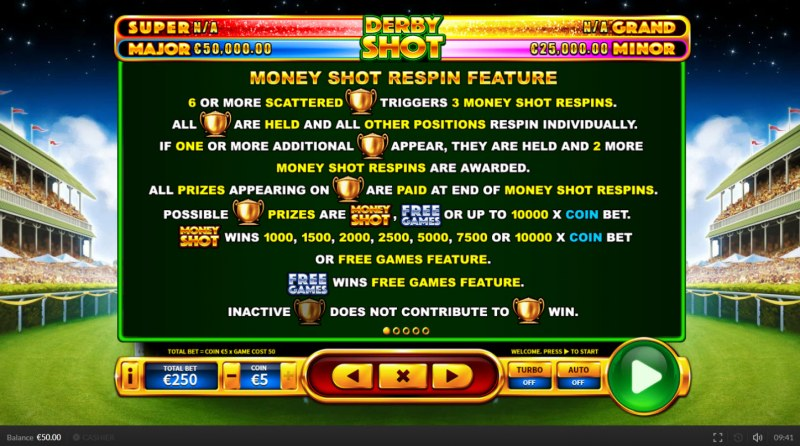 Derby Shot :: Money Shoot Respin Feature