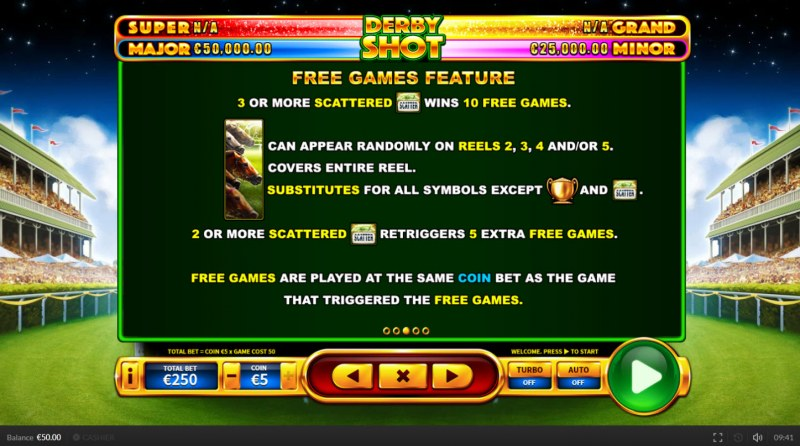Derby Shot :: Free Spins Rules