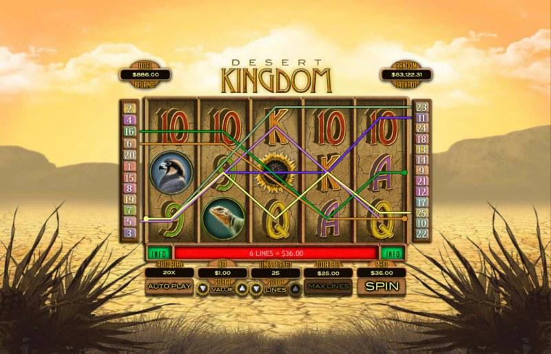 Desert Kingdom :: Multiple winning paylines