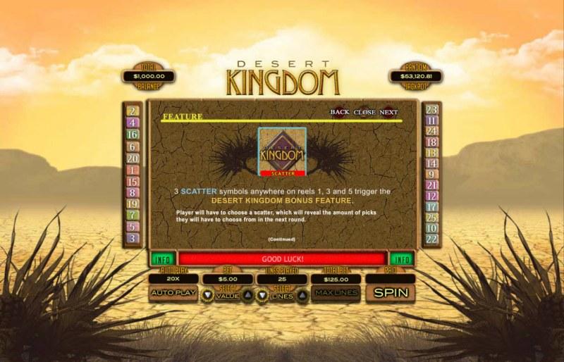 Desert Kingdom :: Feature Rules