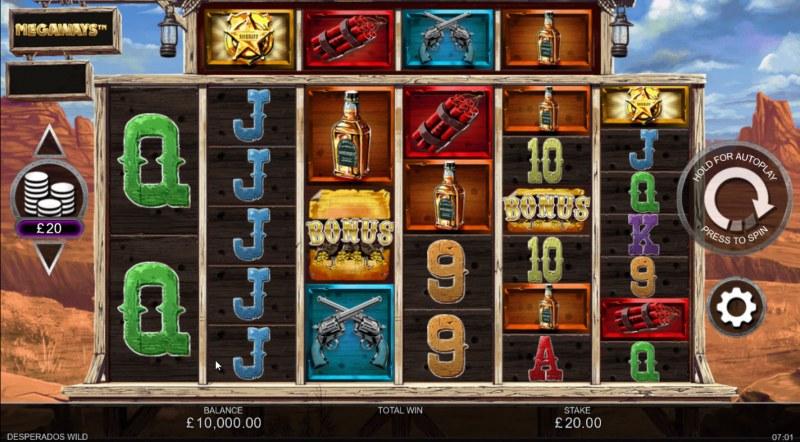 Desperados Wild Megaways :: Base Game Screen