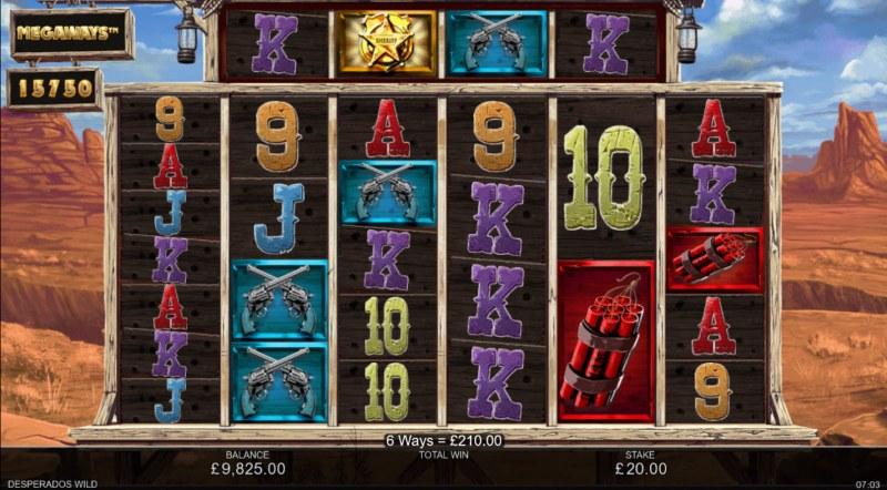 Desperados Wild Megaways :: Multiple winning combinations