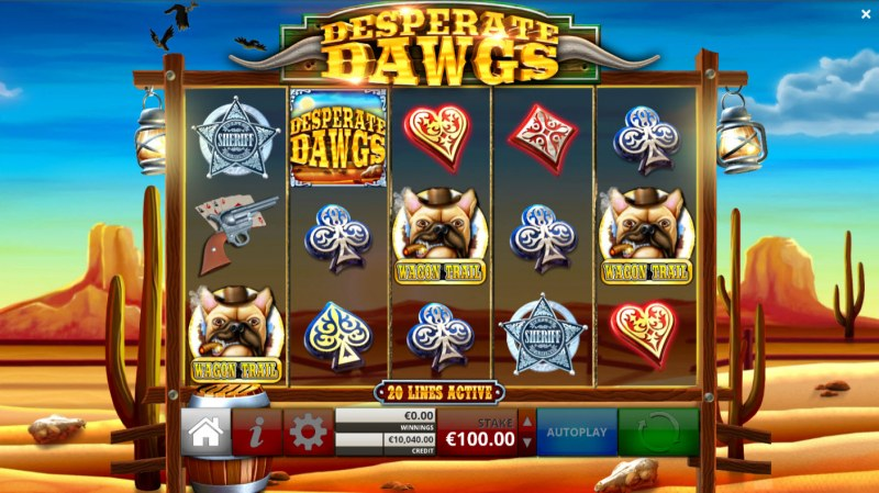 Desperate Dawgs :: Scatter symbol triggers the bonus feature