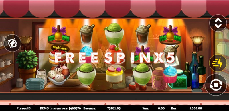 Dessert :: Scatter symbols triggers the free spins bonus feature