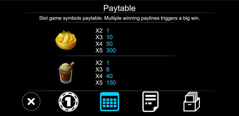 Dessert :: Paytable - Low Value Symbols