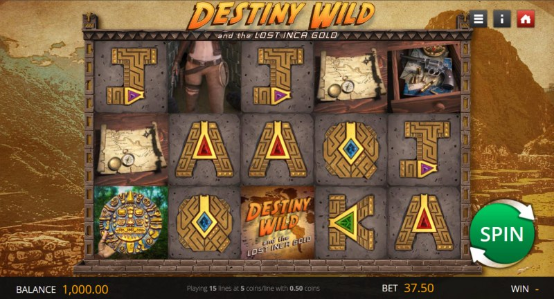 Destiny Wild and the Lost Inca Gold :: Main Game Board