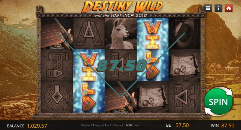 Destiny Wild and the Lost Inca Gold :: A four of a kind win