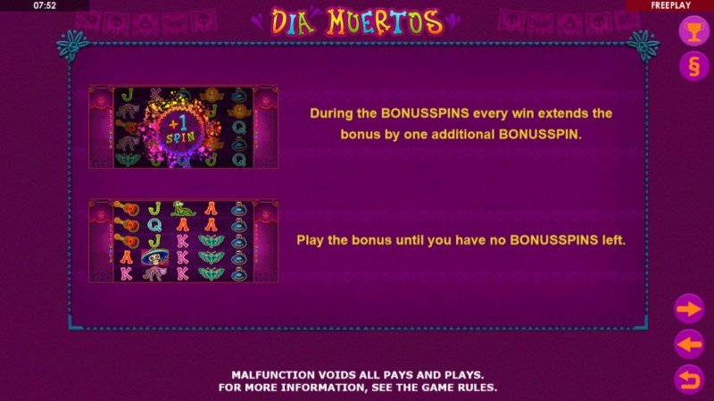 Dia Muertos :: Free Spins Rules