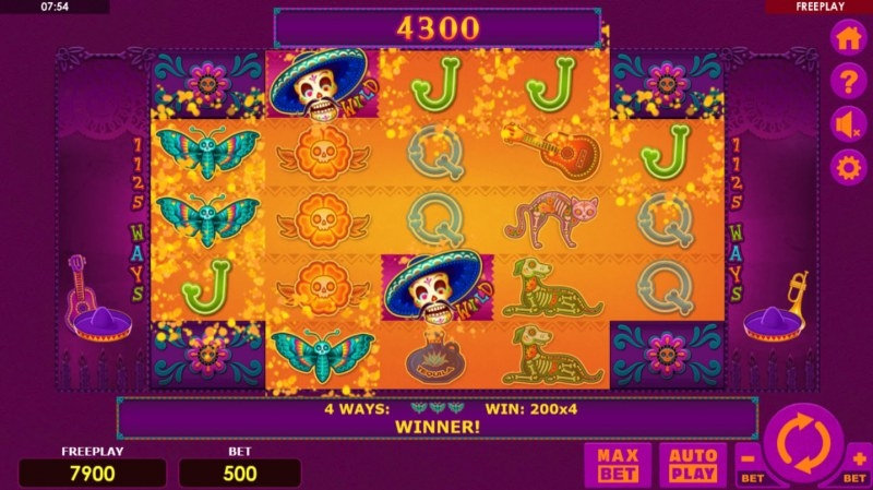 Dia Muertos :: Multiple winning combinations leads to a big win