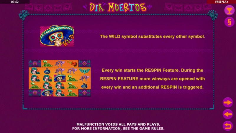 Dia Muertos :: Wild Symbols Rules