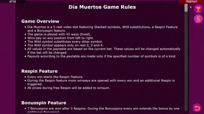 Dia Muertos :: General Game Rules