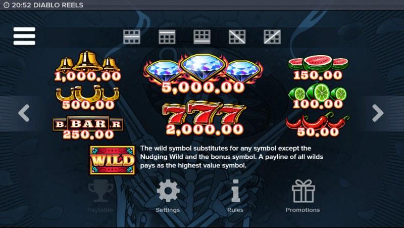 Diablo Reels :: Paytable