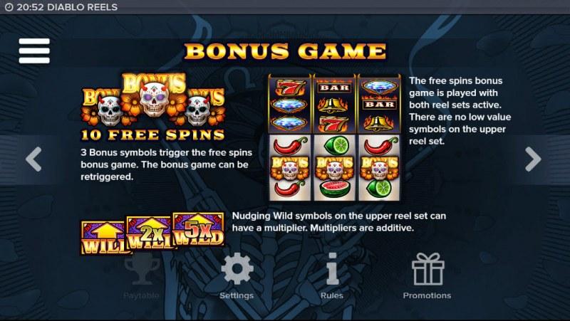 Diablo Reels :: Bonus Game Rules