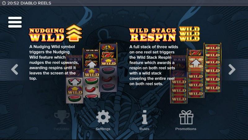 Diablo Reels :: Wild Symbols Rules