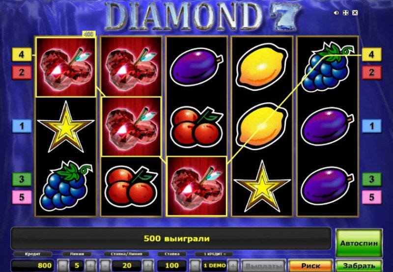 Diamond 7 :: Three of a kind win