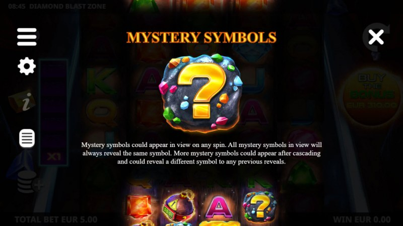 Diamond Blast Zone :: Mystery Symbols