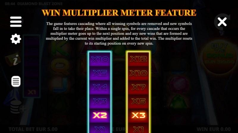 Diamond Blast Zone :: Win Multiplier Meter Feature