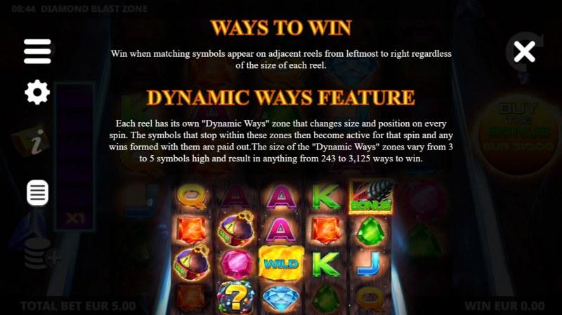 Diamond Blast Zone :: Dynamite Ways Feature