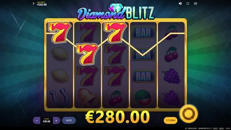Diamond Blitz :: Multiple winning paylines