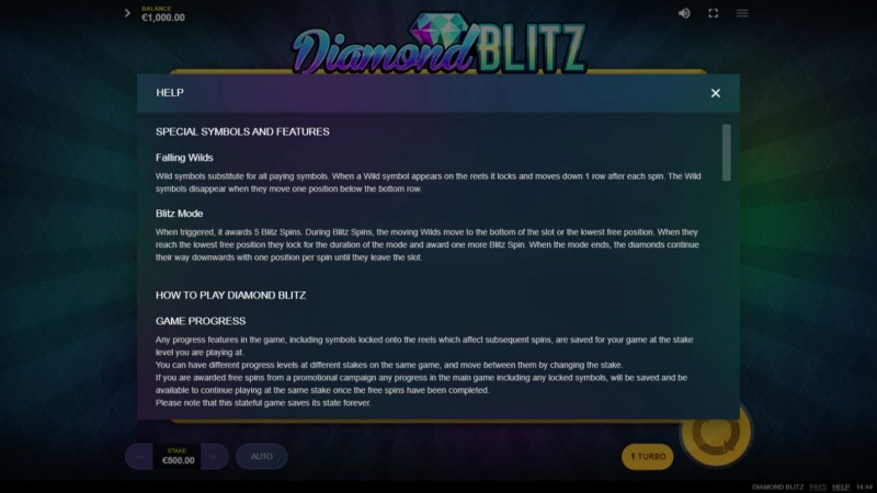 Diamond Blitz :: Basic Game Rules
