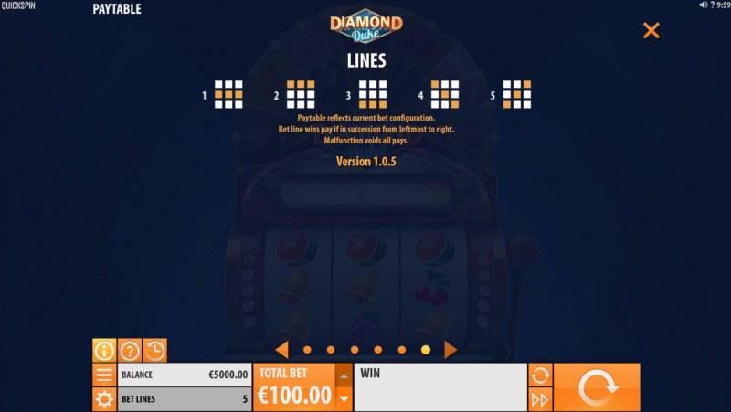 Diamond Duke :: Paylines 1-5