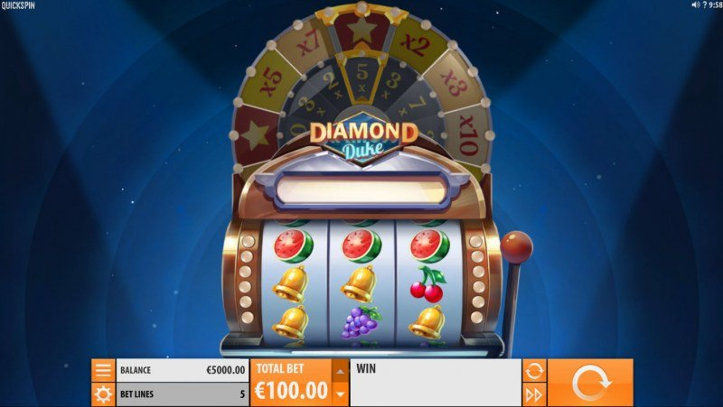 Play slots at Powerspins: Powerspins featuring the Video Slots Diamond Duke with a maximum payout of $800,000
