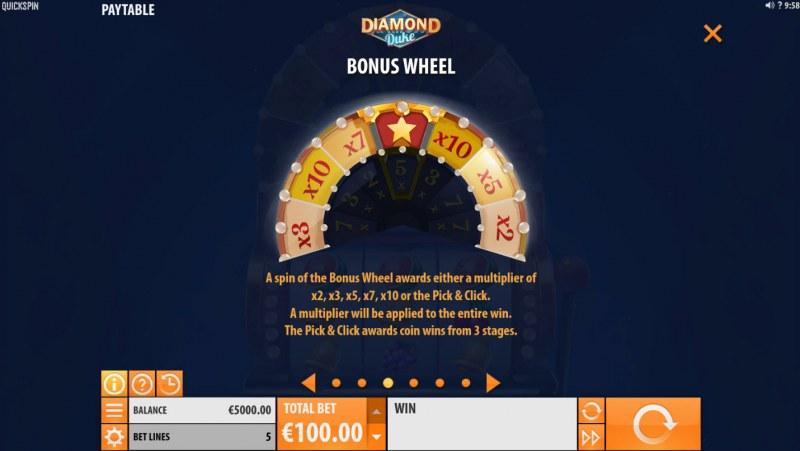 Diamond Duke :: Bonus Wheel