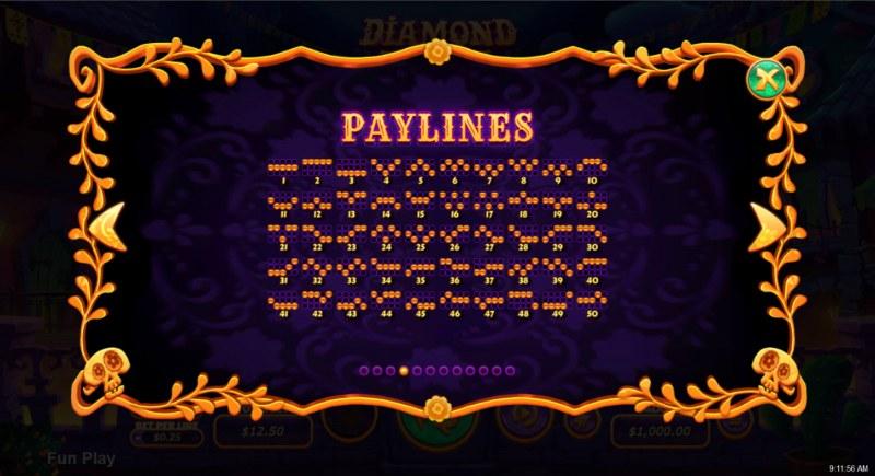Diamond Fiesta :: Paylines 1-50