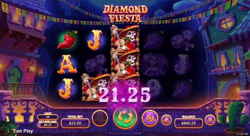 Diamond Fiesta :: Multiple winning paylines
