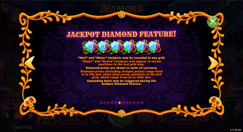 Diamond Fiesta :: Jackpot Rules