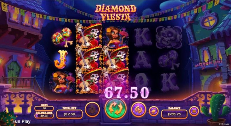 Diamond Fiesta :: Multiple winning combinations lead to a big win