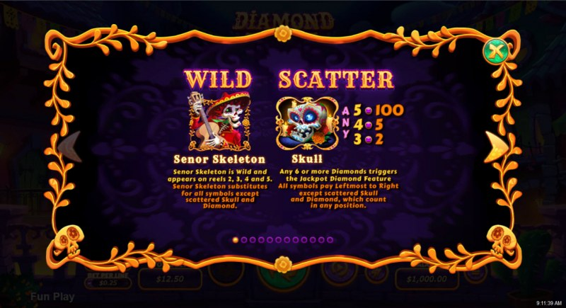 Diamond Fiesta :: Wild and Scatter Rules